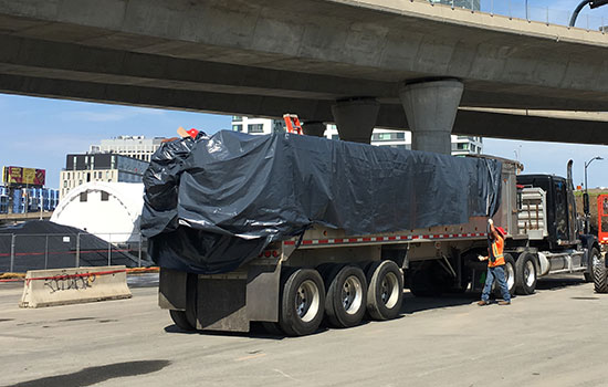 temporary dump truck liners