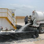 Secondary Containment Using Muscle Walls & Geomembrane Liner